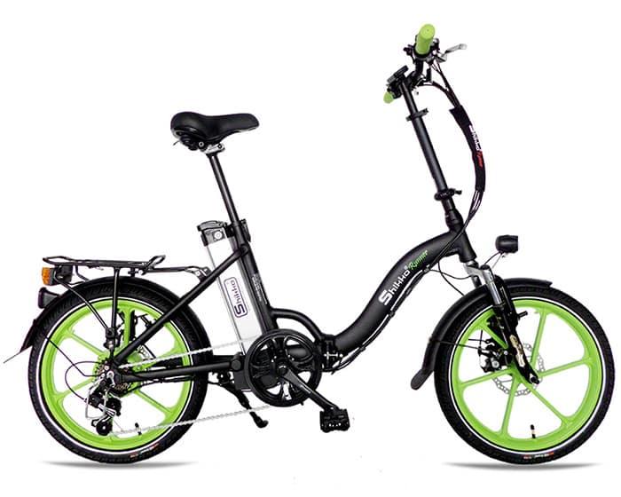 Shikko Runner Black_Green - אופניים חשמליים שיקו ראנר שחור-ירוק