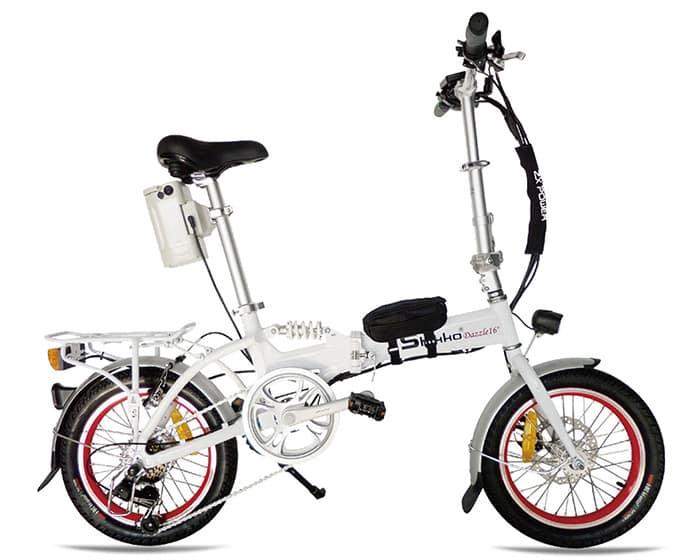 אופניים חשמליים שיקו דאזל - Shikko Dazzle לבן-אדום