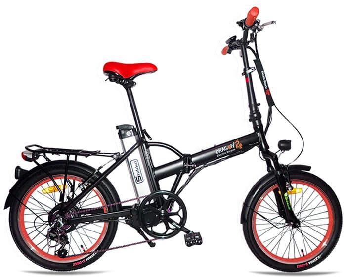 Shikko Dragon_black_red - אופניים חשמליים שיקו דרגון שחור-אדום