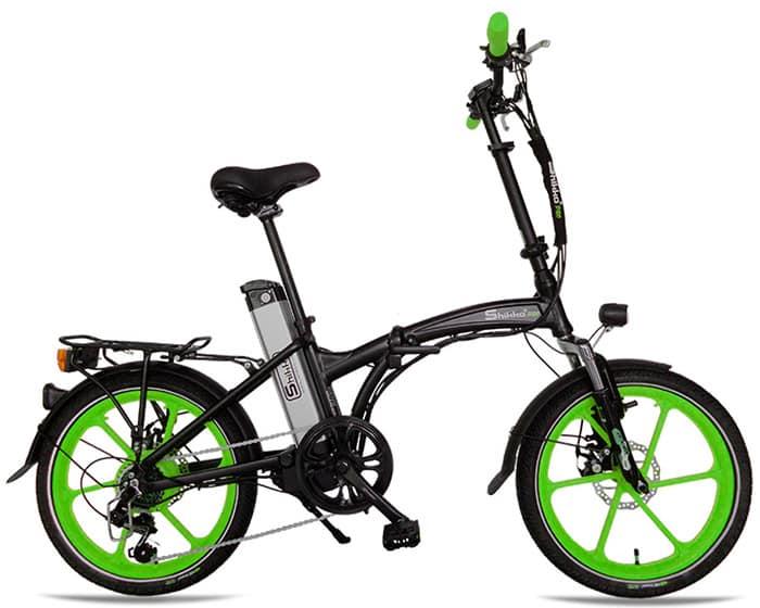 Shikko Pro Black_Green - אופניים חשמליים שיקו פרו שחור-ירוק