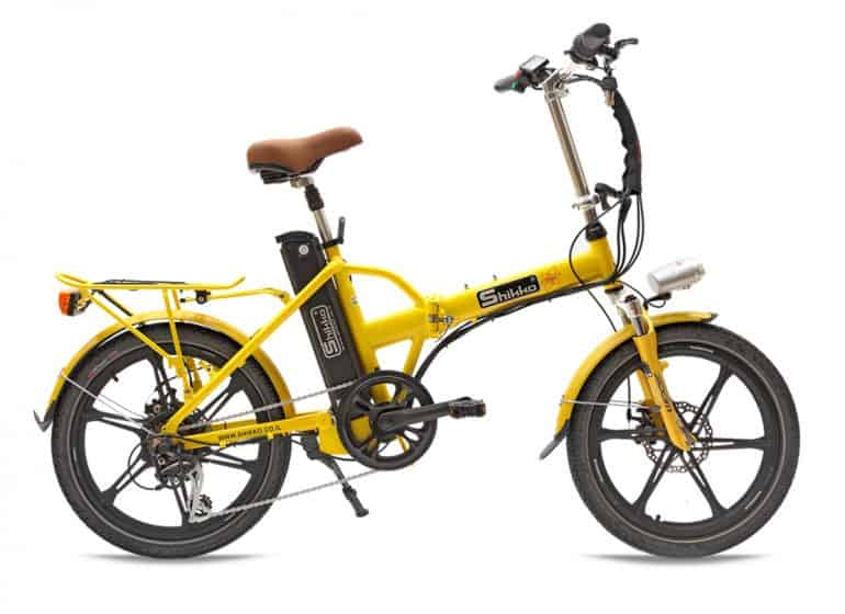אופניים חשמליים מגנזיום - צהוב