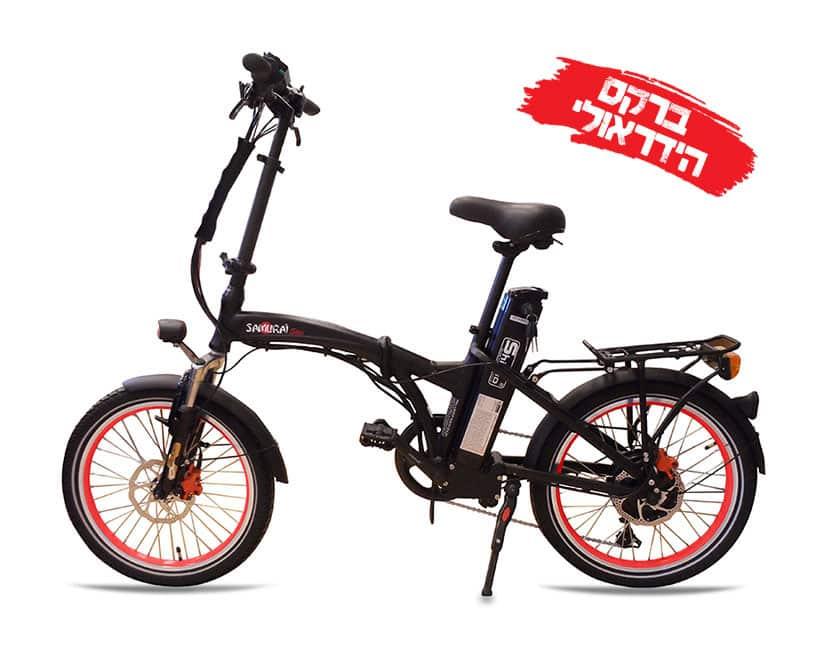 אופניים חשמליים סמוראי עם בלם הידראולי - אדום