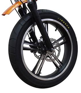 אופניים חשמליים עם גלגלי בלון - אופניים חשמליים עם גלגלים עבים